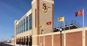 Salisbury University opened its new, $19 million Sea Gull Stadium to the public on April 7, 2016. (Photo from Salisbury University).
