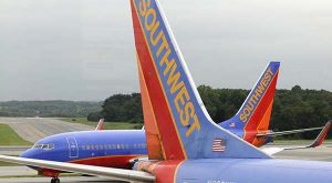 Southwest Airlines planes. (The Daily Record / Maximilian Franz)