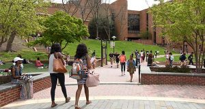 The Towson University campus. (The Daily Record / Maximilian Franz)