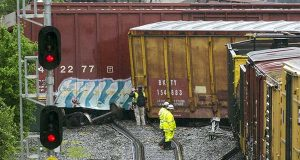 Effect of freight train derailment in DC extends to 2nd day