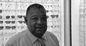 Optician Delmar Nelson has owned Crest Opticians for 50 years, most recently in a Silver Spring shopping center. If Purple Line plans fall through, this will be his third time relocating for a capital project. (Brittany Britto)