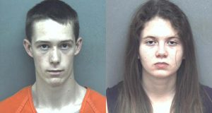 This composite of undated file photos provided by the Blacksburg Police Department shows Virginia Tech student David Eisenhauer, left, and  Natalie Keepers. (Blacksburg Police Department via AP, File)