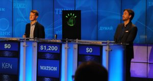 IBM's Watson computer trounced its carbon-based opponents during a special Jeopardy! match in 2011. (Photo from IBM).