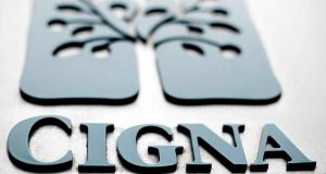 This Aug 4, 2011 file photo shows the Cigna logo at the headquarters of the health insurer Cigna Corp., in Philadelphia. (AP Photo/Matt Rourke, File)