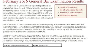 Tell the world you passed the Bar Exam