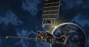 Artist's conception of GOES-R environmental satellite.  (National Oceanic and Atmospheric Administration rendering)