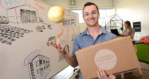 'Since January, things have really exploded,' says Evan Lutz, CEO and co-founder of Hungry Harvest, a startup that helps get ugly yet edible produce from farms to people who will use it. (Maximilian Franz/The Daily Record)