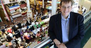 Kurt Sommer, Director of Baltimore Integration Partnership overlooking the Made in Baltimore event at Lexington Market on Monday. (The Daily Record/Maximilian Franz)