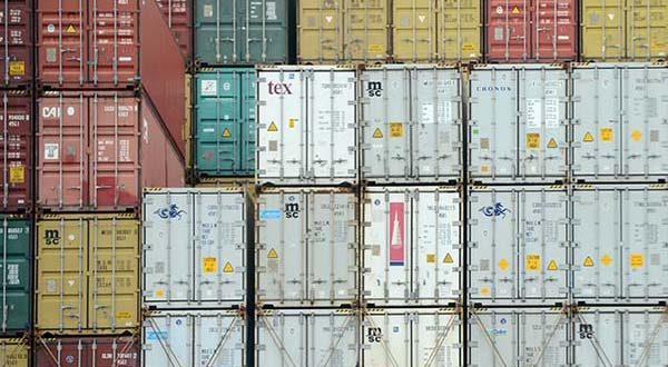 Shipping containers at the port of Baltimore (File)