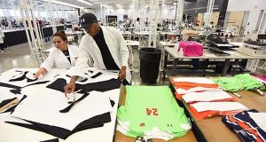 Under Armour's UA Lighthouse manufacturing and design center at Sagamore Development's City Garage facility in Port Covington is one of several hubs for light manufacturing in the city. (Maximilian Franz/The Daily Record)