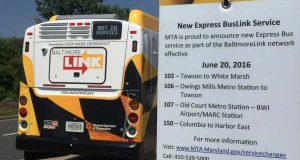 The Maryland Transit Administration launched Express BusLink, part of a $135 million overhaul of the system called BaltimoreLink, to better connect suburbs around the city. (Adam Bednar)
