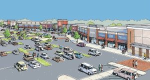 A rendering of the proposed The Shoppes at Tradepoint Atlantic. (Courtesy JLL)
