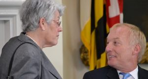 State Treasurer Nancy K Kopp, left, and Comptroller Peter V.R. Franchot. (The Daily Record / File)
