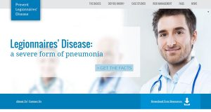 The web site www.PreventLegionnaires.org was created to provide information about Legionella bacteria, its source and how individuals become infected with Legionnaires' disease. (Image courtesy of www.PreventLegionnaires.org)