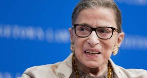 FILE - In this Feb. 4, 2015 file photo, Supreme Court Justice Ruth Bader Ginsburg speaks at Georgetown University Law Center in Washington.  (AP Photo/Manuel Balce Ceneta, File)