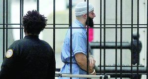 Adnan Syed entering Courthouse East in Baltimore last year (Barbara Haddock Taylor/The Baltimore Sun via AP, File)