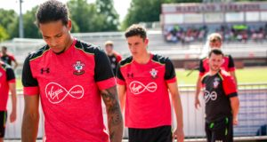 Southampton FC, Under Armour's new global football partner, practiced at Ludwig Field at the University of Maryland last week. (Under Armour)