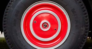 """(Flickr / david pacey / """"bus wheel"""" / CC BY 2.0 / cropped and resized)"""