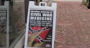 "A sign outside the National Museum of Civil War Medicine in 2010. (Flickr / ShashiBellamkonda / ""National Museum of Civil War Medicine"" / CC BY 2.0 / cropped and resized)"