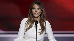 Melania Trump, wife of Republican Presidential Candidate Donald Trump, speaks during the opening day of the Republican National Convention in Cleveland, Monday, July 18, 2016. (AP Photo/J. Scott Applewhite)