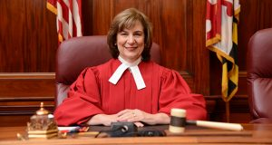 10.15.13 BALTIMORE, MD- Chief Judge Mary Ellen Barbera, Maryland Court of Appeals.  (Maximilian Franz/The Daily Record)