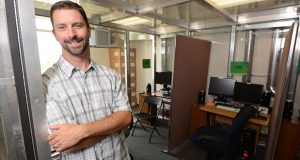 BALTIMORE, MD-Ryan Vandrey, associate professor, Dept of Psychiatry and Behavioral Sciences Johns Hopkins University School of Medicine, seen here in the school's marijuana smoke research rooms. (The Daily Record/Maximilian Franz)