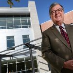 Stevenson University is naming its new academic center after outgoing President Kevin Manning. (Maximilian Franz)