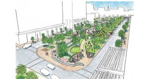 A rendering of Preston Gardens.
