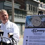 """Not rebuilding and restoring the downtown area is not an option, Kittleman added.  """"A lot of people are saying we shouldn't rebuild – that's ridiculous,"""" he said. """"We're going to rebuild but we're going to rebuild to make us stronger."""" (Maximilian Franz/The Daily Record)"""