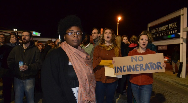 Destiny Watford, center, led a coalition that fought a proposed incinerator at Curtis Bay. (Submitted photo)
