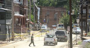Main Street in Ellicott City on Thursday. (The Daily Record / Maximilian Franz)