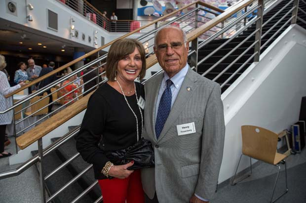 Dot and Henry Rosenburg were on hand to celebrate during the National Aquarium's 35th anniversary party. (National Aquarium photo)