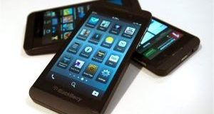 This Tuesday, Feb. 5, 2013, shows the Blackberry Z10 in Toronto. (AP Photo/The Canadian Press, Frank Gunn)