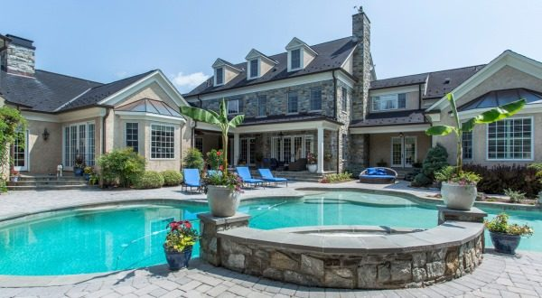 This 16,000-square-foot estate in Howard County was previously listed at $5.3 million and is headed to auction. (Courtesy DeCaro Auctions International)