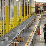 A worker at Amazon's fulfillment center. (File)