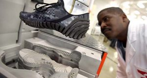Under Armour shoes being manufactured at the Lighthouse innovation center in Port Covington. (File)