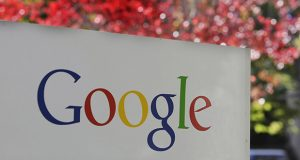 FILE - In this Nov. 10, 2010 file photo, the company logo is displayed is at Google headquarters in Mountain View, Calif. Search engine giant Google Inc. is making Kansas City, Kan., the first place to get its new ultra-fast broadband network, the company announced Wednesday, March 30, 2011. (AP Photo/Paul Sakuma, file)