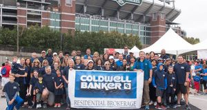 Members of area Coldwell Banker Residential Brokerage offices gather at M&T Bank Stadium in Baltimore Oct. 8 for the Greater Baltimore Heart Walk. The group raised more than $30,000 through the walk. (Submitted photo)
