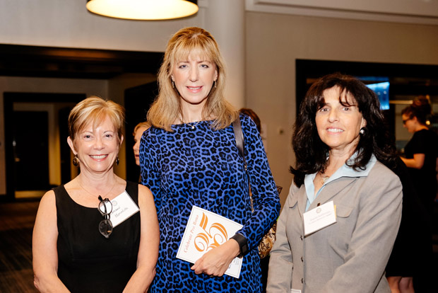 "From left, Kathleen Meredith, the Hon. Andrea M. Leahy and Sharon Goldsmith pose for a photo at the ""Celebrate Pro Bono"" awards at the Renaissance Hotel."