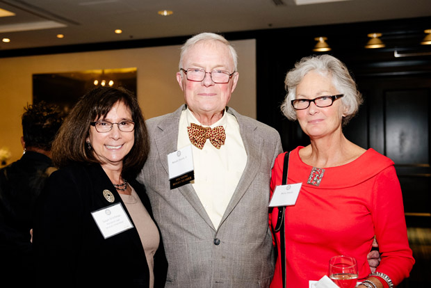"From left, MLSC Executive Director Susan Erlichman, Nevett Steele Jr. and Betsey Steele attended the ""Celebrate Pro Bono"" awards at the Renaissance Hotel. (MVLS Submitted photo)"