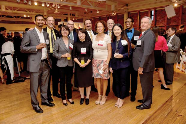 A group of Towson University professors and graduate students were recognized ARMstrokes, an app they created that helps stroke survivors. (The Daily Record / Maximilian Franz)