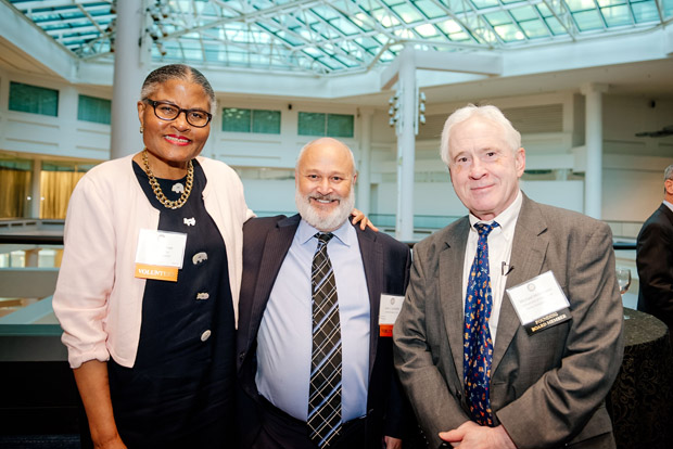 "From left, Elva Tillman, Jack Condliffe and Mike Millemann attended the ""Celebrate Pro Bono"" awards at the Renaissance Hotel. (MVLS submitted photo)"