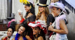 """Brynee Baylor, bottom left, with the cast of """"The Real Housewives of Potomac."""" (Larry French, Bravo)"""
