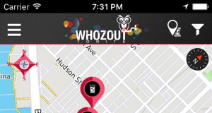 The Whozout app says it will let users check the ratios of men to women at a venue, and filter by other demographic characteristics.