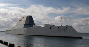 The guided-missile destroyer Zumwalt. (U.S. Navy photo by Chief Mass Communication Specialist James E. Foehl/Released)