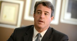 04.24.13- BALTIMORE, MD- Maryland Attorney General Doug Gansler during a newsmaker interview at TDR. (Maximilian Franz/The Daily Record)