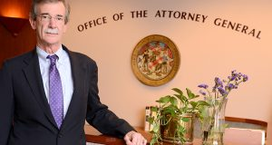 Maryland Attorney General Brian Frosh  notes that he believes daily fantasy sports constitutes illegal gaming in Maryland, but at times says the General Assembly needs to clarify the law and raises questions about whether new regulations implemented by the Office of the Comptroller ultimately even apply to the daily fantasy industry. (The Daily Record / Maximilian Franz)