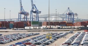 The Port of Baltimore's potential has attracted major investments in warehouse and distribution space in the area, but issues with the Howard Street Tunnel have limited its ability to handle double-stack containers. (Maximilian Franz / The Daily Record)