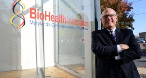 "Maryland has ""assets and institutions and organizations"" that no other U.S. biohealth market can replicate, said Richard Bendis, president and CEO of Maryland BioHealth Innovation. (The Daily Record/ Maximilian Franz)."