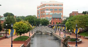 The Riverwalk in downtown Frederick.